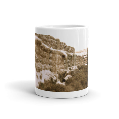 Winter Feed Lot Horizontal Mug