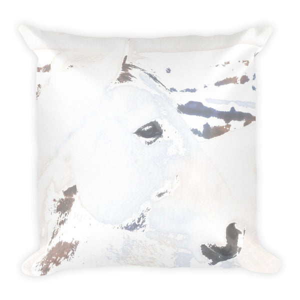White Desert Ghost Throw Pillow