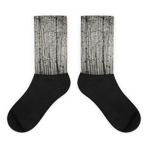 Aspen Illusion - Black foot socks