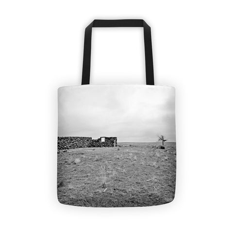 Homestead and Tree Tote bag