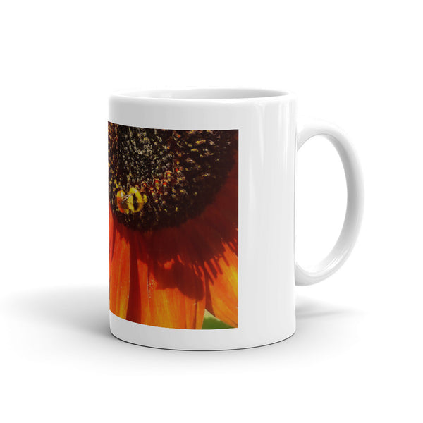 Autumn Sunflower and Bumble Bee Mug
