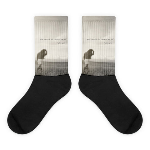 After the Storm Inspirational - Black foot socks