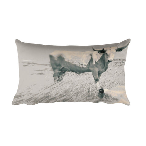 In the Still of the Grey Throw Pillow