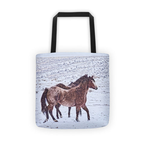 Prancing in the Snow Tote bag