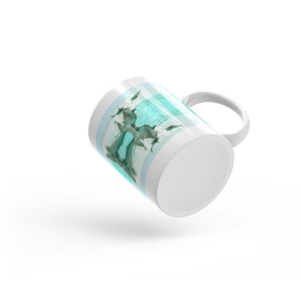 Turquoise and Steer Mug