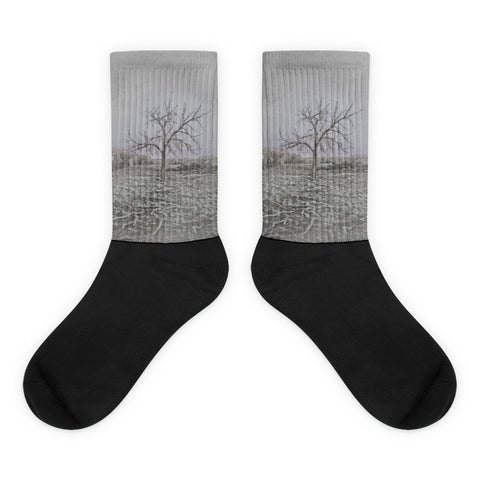 Frosted - Black foot socks