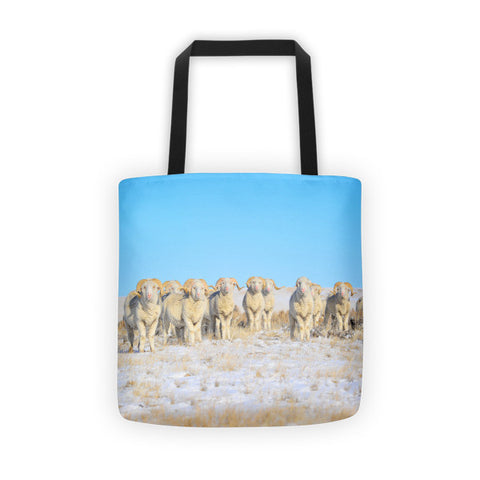 Line Em Up Rams Tote bag