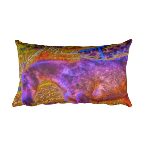 Colors in Sync Rectangular Pillow
