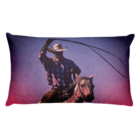 Midnight Cowboy Rectangular Pillow