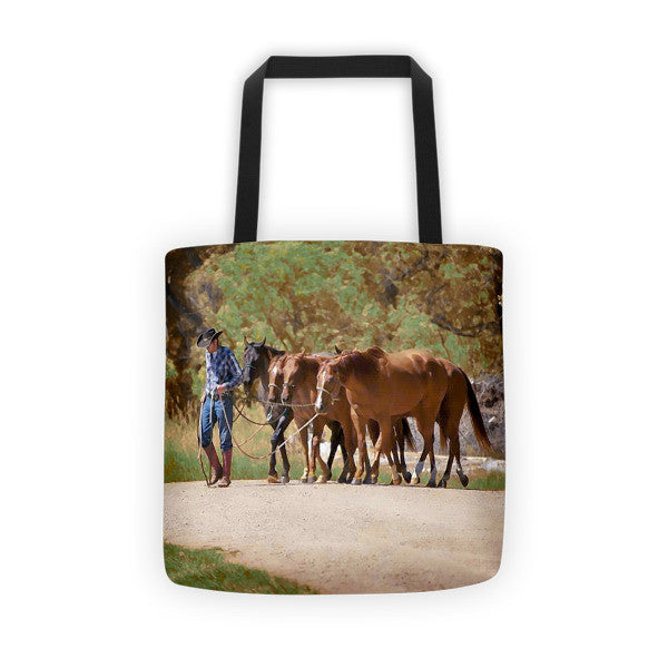 He Leads Me To Still Waters Tote bag