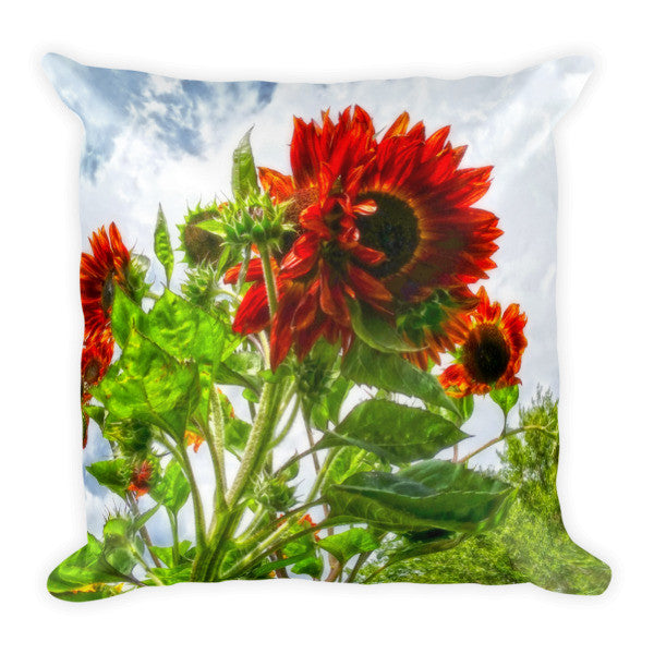 Emeralds and Fire Throw Pillow