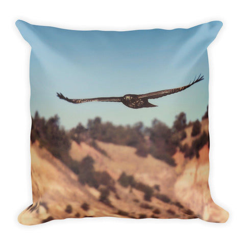 Have You Never Seen a Hawk on The Wing Throw Pillow