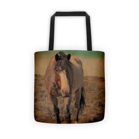 Red Roan and Sage Brush Tote bag