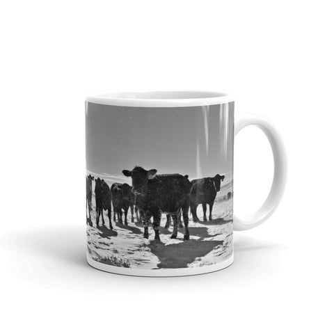 Heifers In The Snow Mug