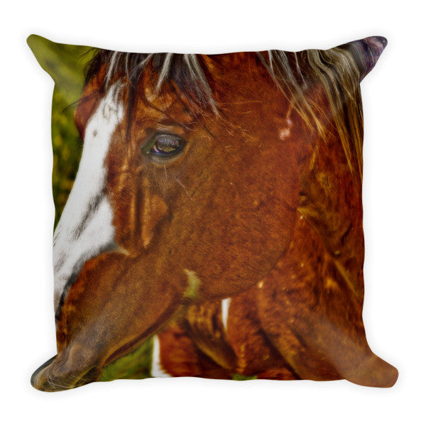 Summer Mare Throw Pillow