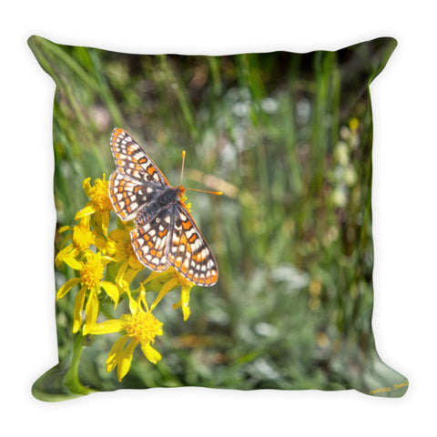 Butterfly in Aspen Throw Pillow