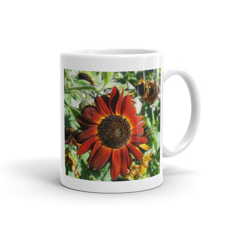 Hearts on Fire Sunflower Mug