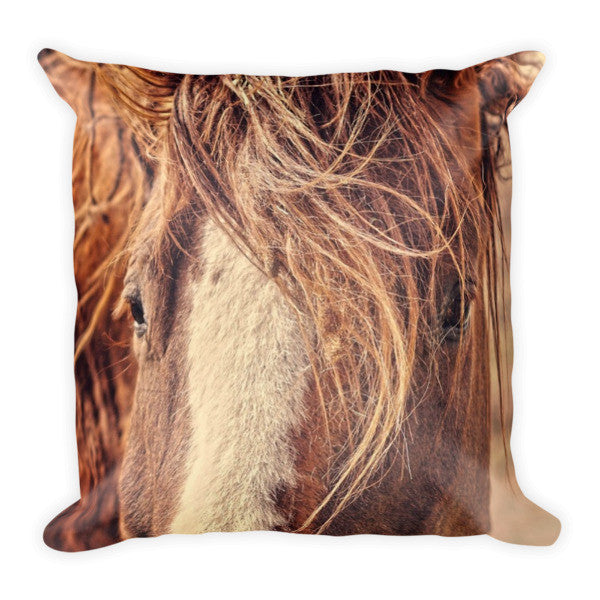 Rustic Eyes Throw Pillow