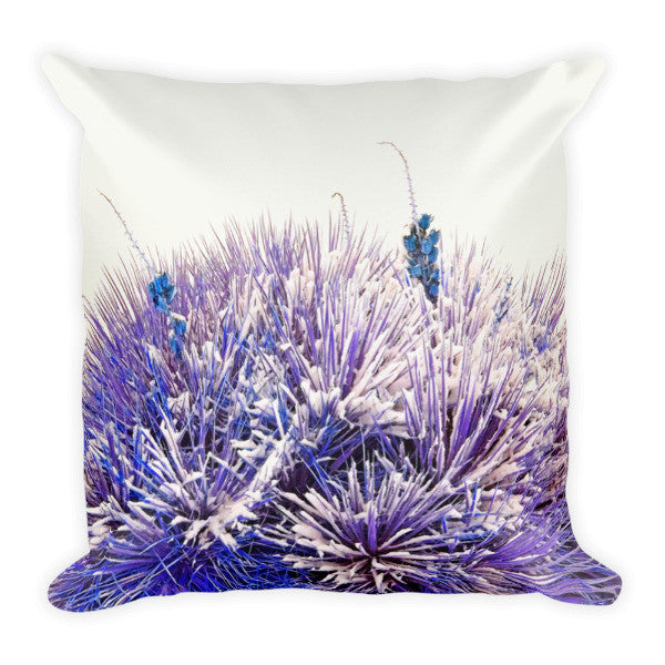 Winter Yucca in Blue Throw Pillow
