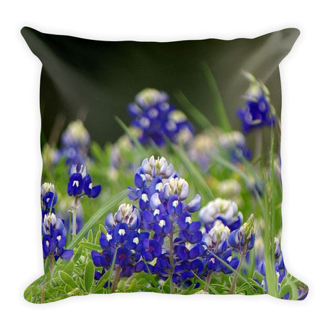 Springtime in Blue Throw Pillow