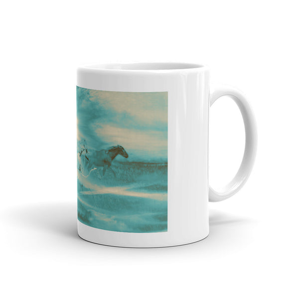 Turquoise Run in Spirit Mug
