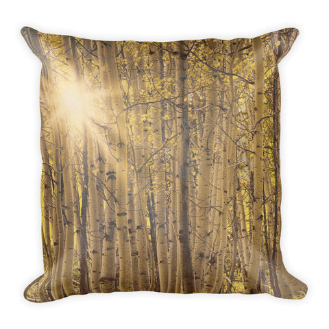 Aspens in Summer Throw Pillow