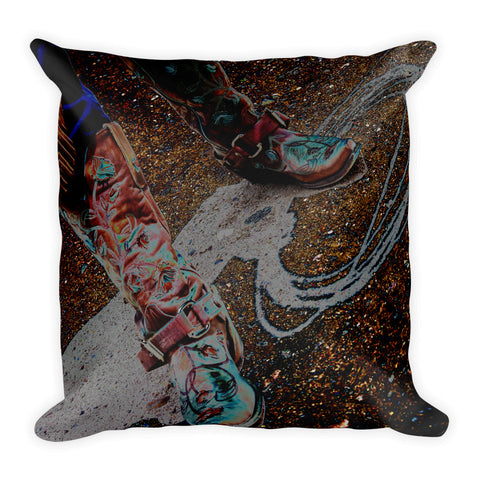 Retro Cowgirl Throw Pillow