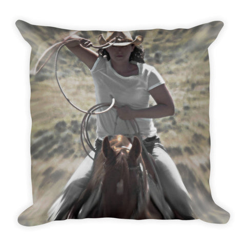 On a Rope and a Prayer Throw Pillow