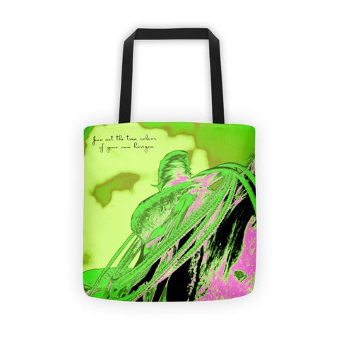 Saddle Electric Pink Quote Tote bag