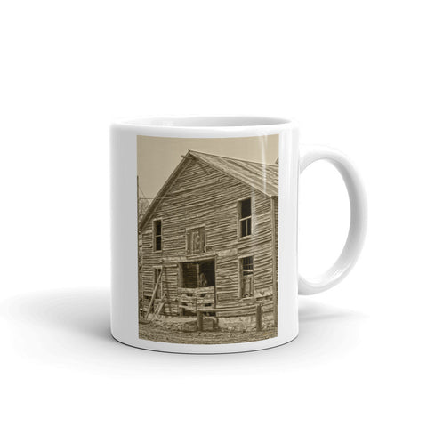 Rustic Barn of Old Mug