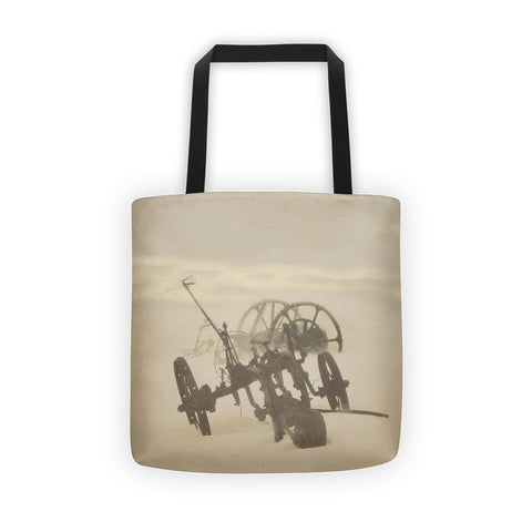 Plow in Blizzard Tote bag