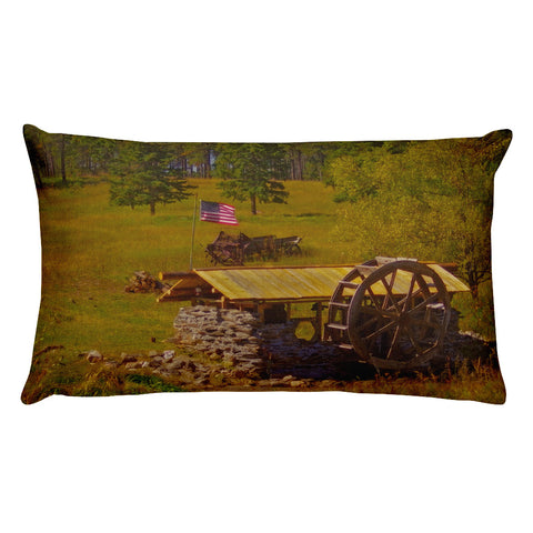 Water Wheel House Rectangular Pillow