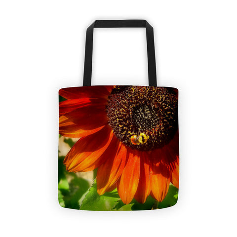 Autumn Sunflower and Bumble Bee Tote bag