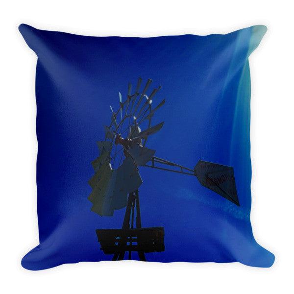 Underwater Windmill Throw Pillow