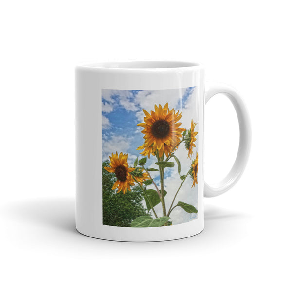 Sunflowers and Blue Mug