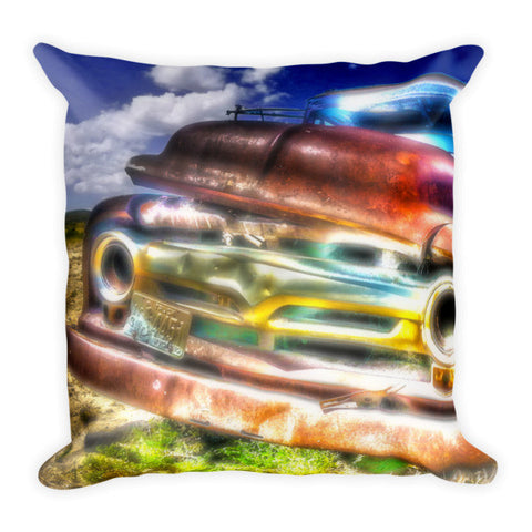 Wyoming Old Chevy Truck Throw Pillow