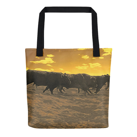 Running with the Boys Tote bag