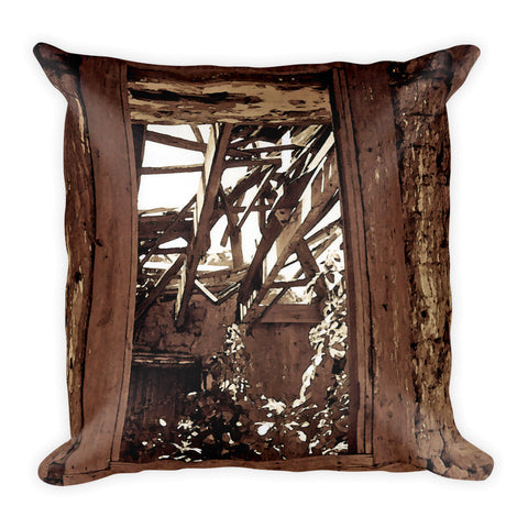 Bunk House Window Throw Pillow