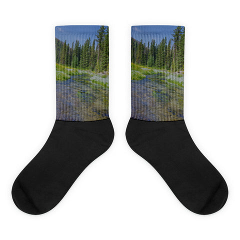 Black Hills Serenity - Black foot socks