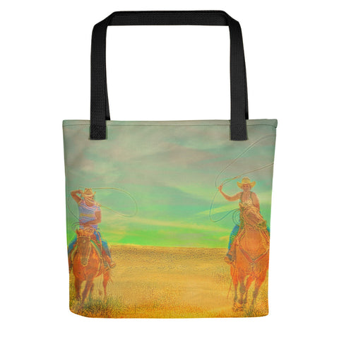 Ropin' Two Tote bag