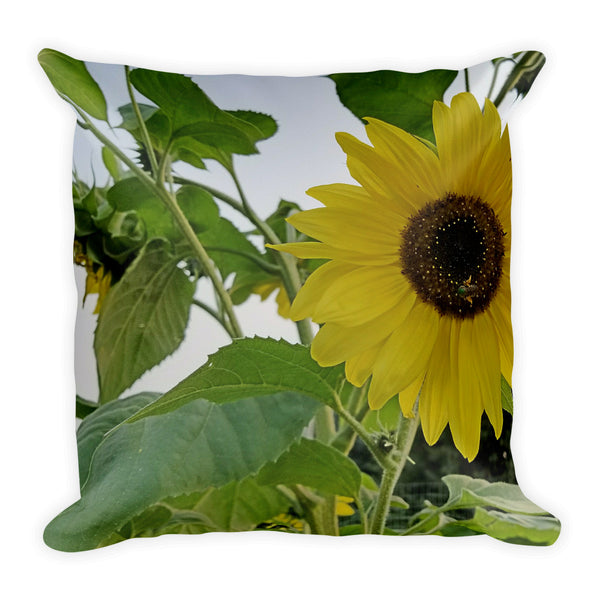 Hello Yellow Throw Pillow