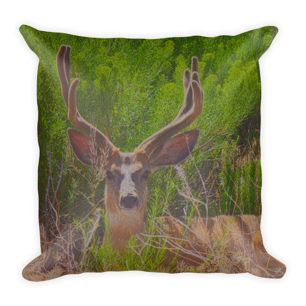Velvouflage Throw Pillow