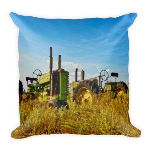 John Deere Two Throw Pillow