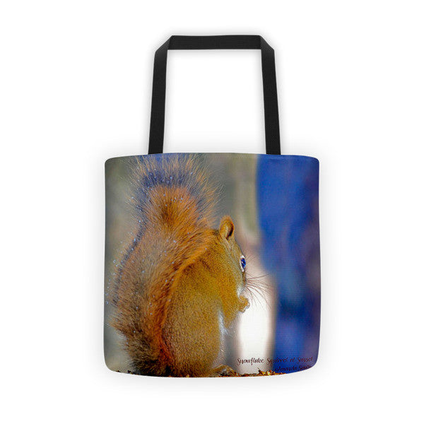 Snowflake Squirrel Tote bag
