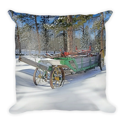 Manure Spreader Throw Pillow