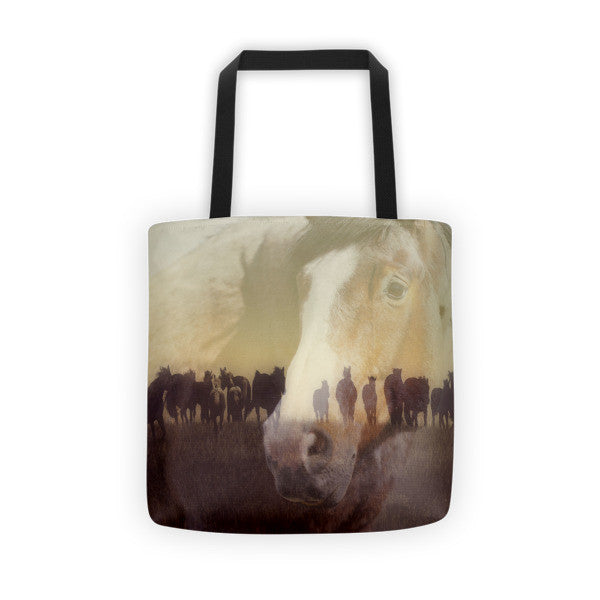 Watch Over the Last Run at Dusk Tote bag