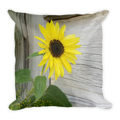 Sunflower and Dill Throw Pillow