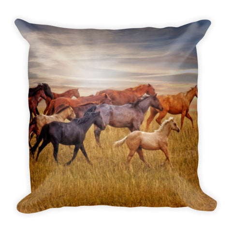 Last Light's Run Throw Pillow