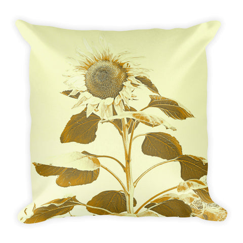Golden Rayed Throw Pillow