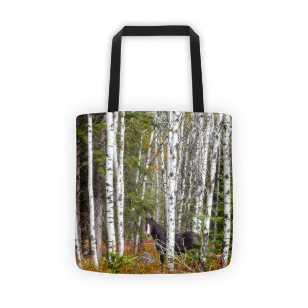 Black and White in Aspen Tote bag